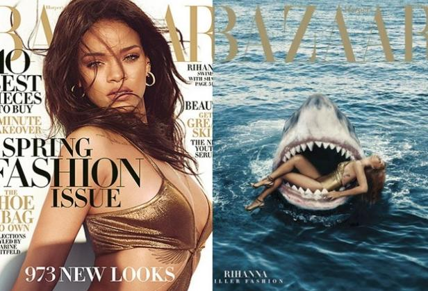 Rihanna plastic surgery 2 swimming with sharks