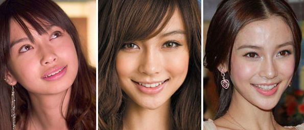 Angelababy - before and after