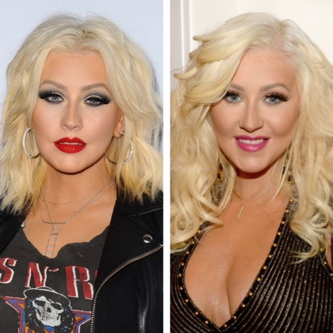 Christina Aguilera before and after plastic surgery 2015 (6)