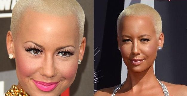 Amber Rose before and after nose job