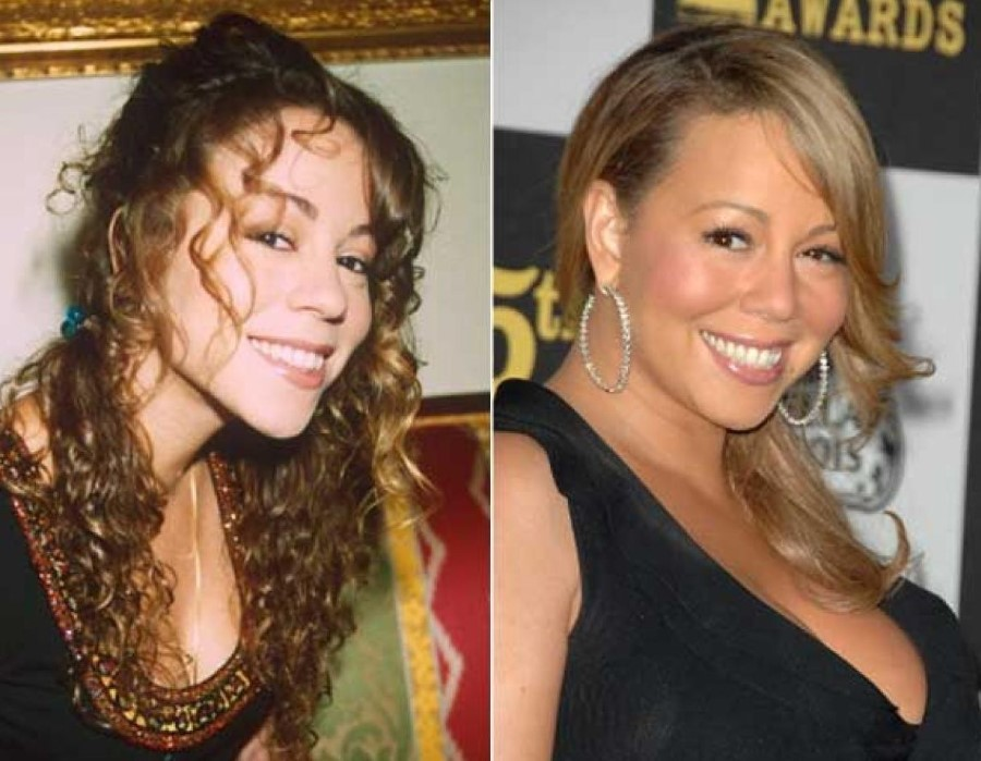 Mariah Carey before nad after plastic surgery