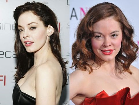 Rose McGowan before and after cosmetic procedures