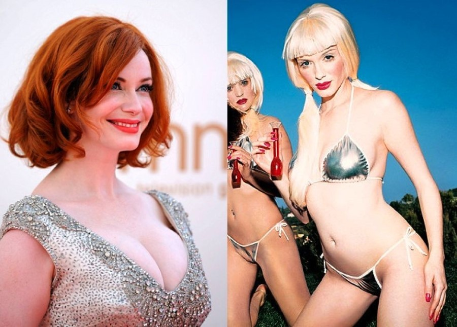 Christina Rene Hendricks before and after breast augmentation