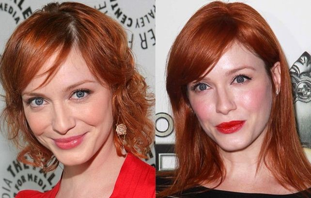 Christina Rene Hendricks before and after nose job