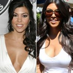 Kourtney Kardashian before and after breast augmentation