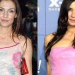 Famke Janssen before and after using botox injections