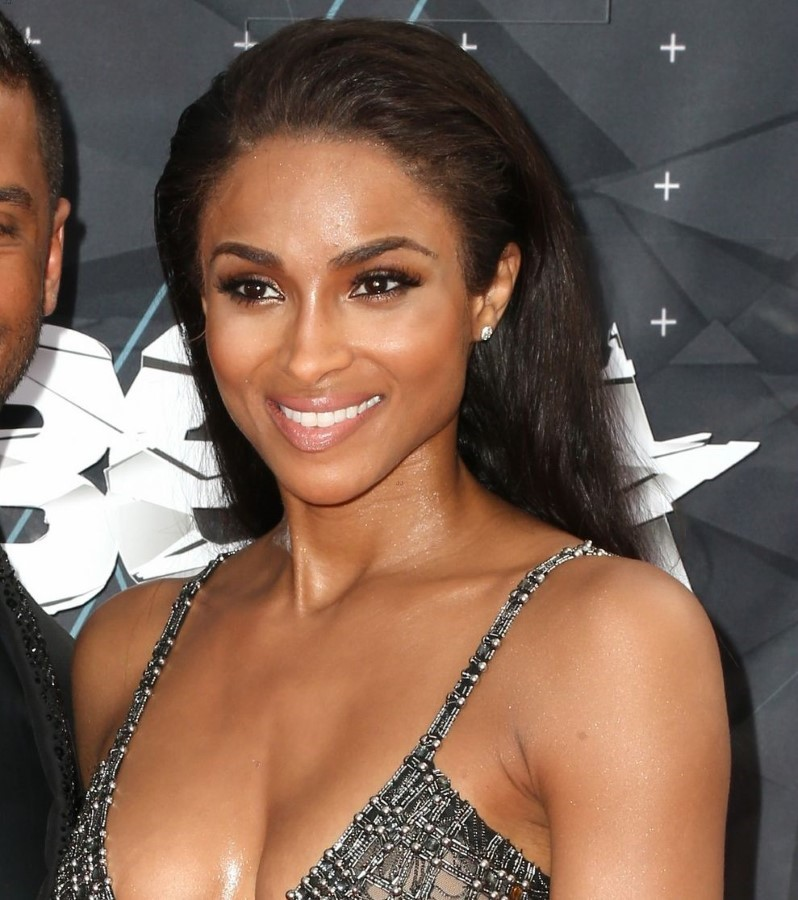 Ciara after breast augmentation and nose job