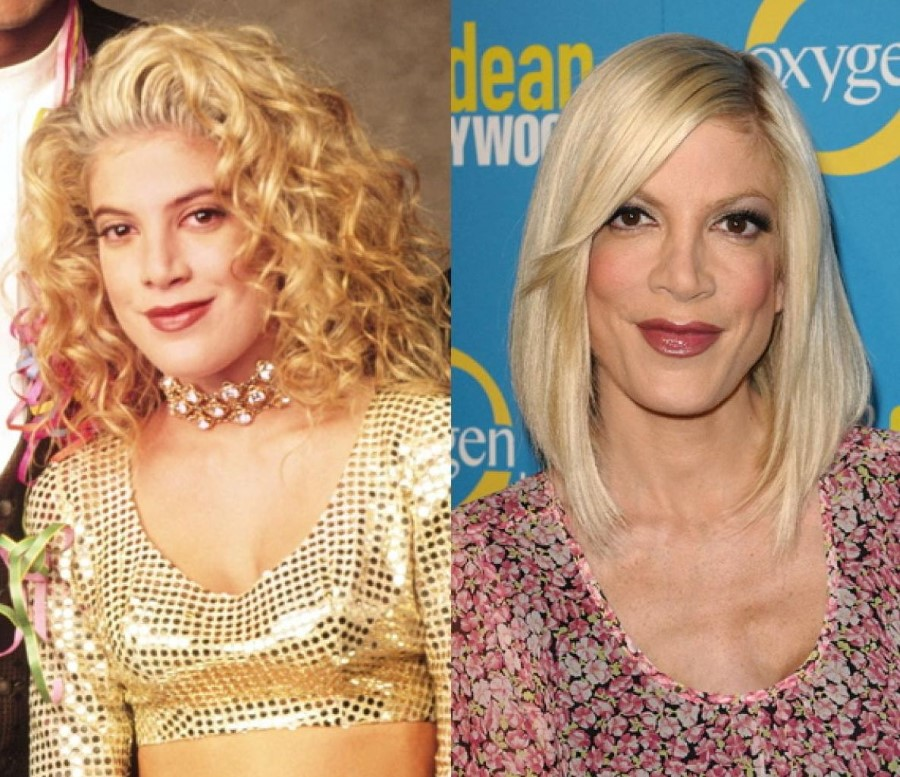 Картинки по запросу Tori Spelling plastic surgery before and after