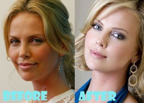 Charlize Theron Before And After Plastic Surgery 4