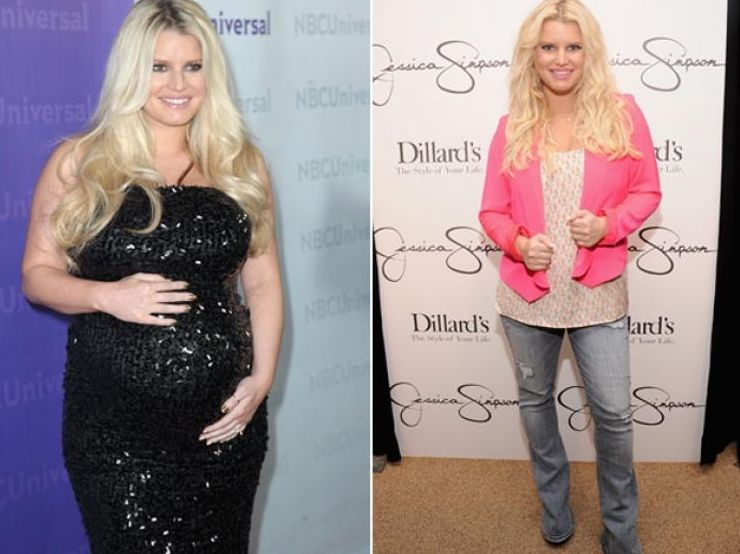 Jessica Simpson plastic surgery before and after weight loss