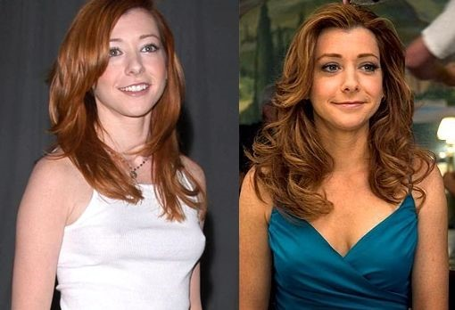Alyson Hannigan before and after breast augmentation
