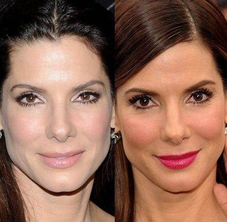 Sandra Bullock before and after cosmetic procedures