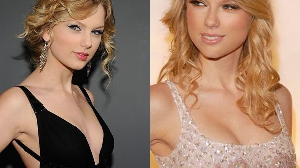 Taylor Swift before and after breast augmentation