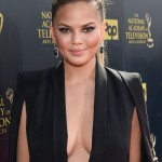 Chrissy Teigen after breast augmentation