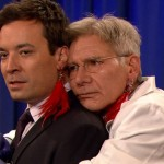 Jimmy Fallon and Harrison Ford