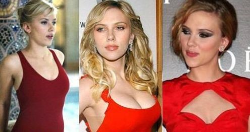 Scarlett Johansson breast transformations