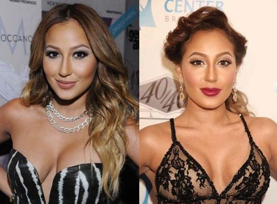 Adrienne Bailon before and after nose job