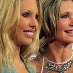 Chloe Lattanzi plastic surgery 63 with Olivia Newton John